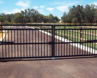 Dual swing gates